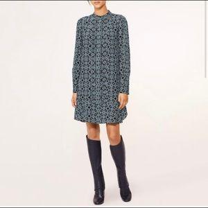 Tory Burch Massey Pompidou Silk Tunic Shirtdress